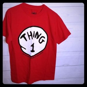 Red and White Thing 1 Graphic T-shirt sz S NWT